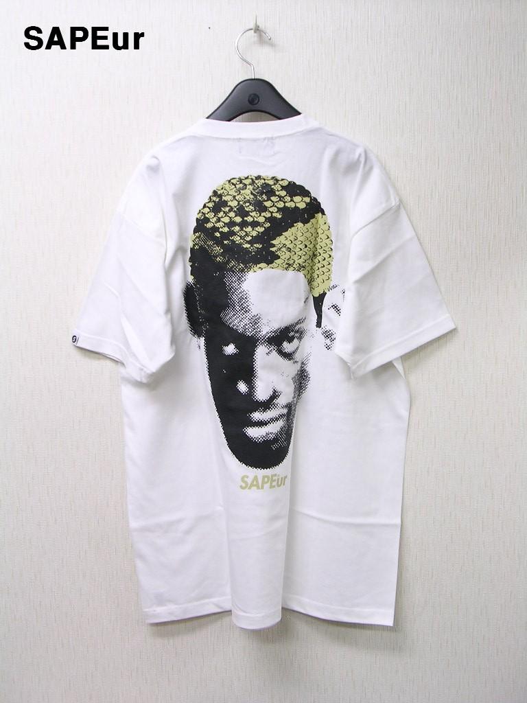 XXL 白/白 WH/WH【SAPEur DOTmanColorHeads S/S Tshirt サプール ドットマン カラーヘッド Tシャツ WHITESNAKE ホワイトスネーク 蛇柄 ロッドマン Tシャツ】