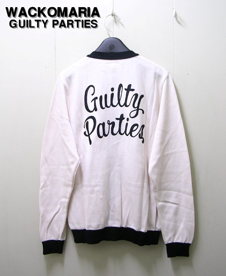 S WHITE/NAVY【WACKO MARIA [ワコマリア] COTTON SILK KNIT CARDIGAN (Guilty Parties) ニットカーディガン】13SS-KNT-09