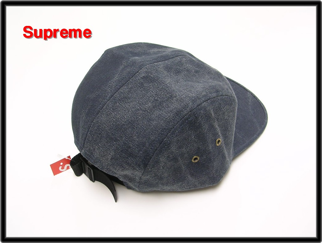 Navy 15SS[Supreme[shupurimu]Stone Washed Canvas Camp Cap盖子]