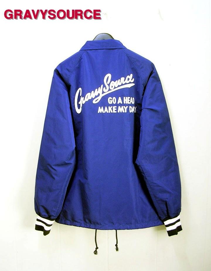 M BLUE【GRAVYSOURCE [グレイビーソース] GS COACH JK コーチジャケット】GS14-AJK03