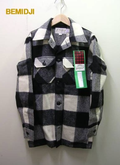XS 黒/白【BEMIDJI[ベミジ] #44 Paul Bunyan Jac Shirtチェックシャツ ジャケット】【新品】