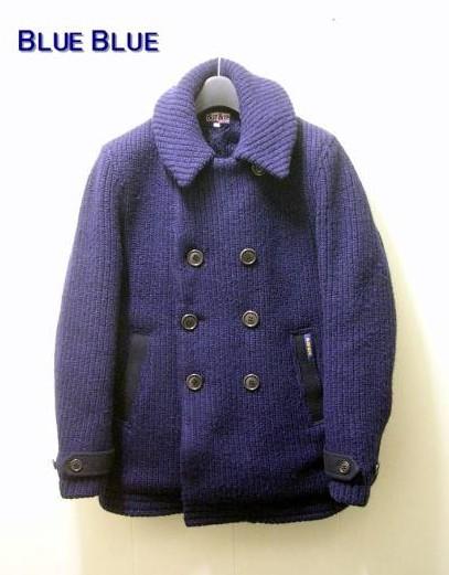 2(M) 【BLUE BLUE ブルー ブルー 圧縮ニットPコートジャケット】【中古】