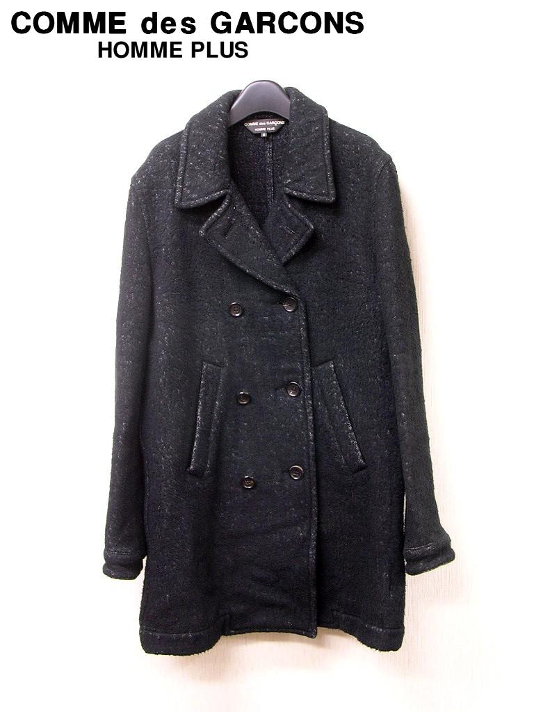 M 黒 BLACK【COMME des GARCONS HOMME PLUS Pコートジャケット コムデギャルソンオムプリュス Pコートジャケット 品番 PN-C002】【中古】