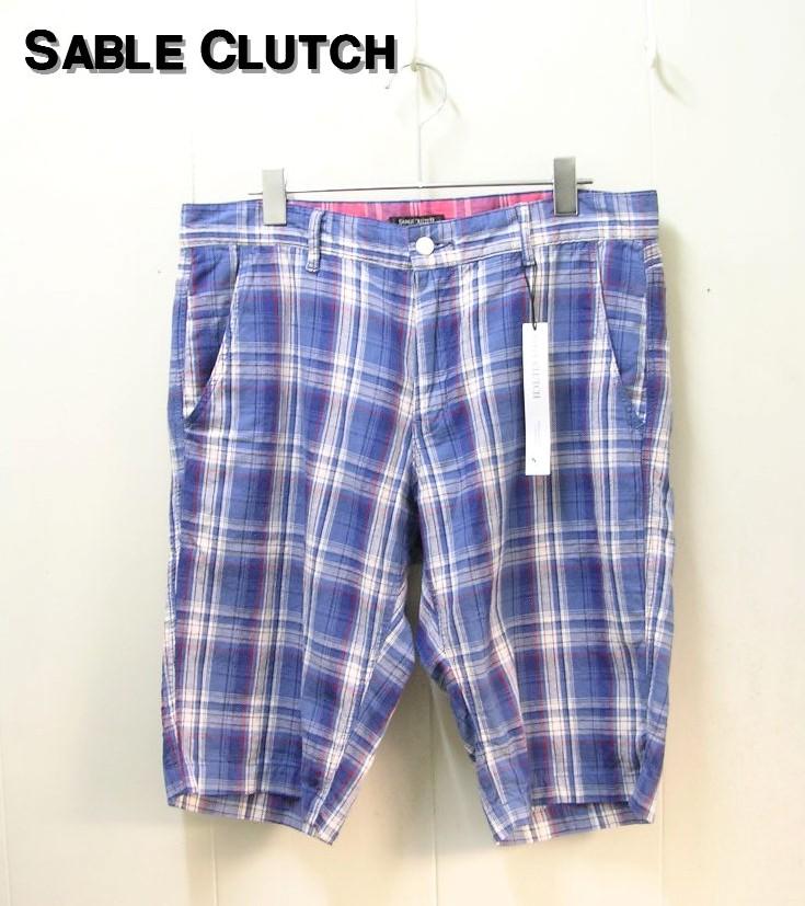 L BLUE【SABLE CLUTCH [セーブルクラッチ] DOBBY CHECK SHORTS ドビーチェックショーツ ショートパンツ】SC42-023