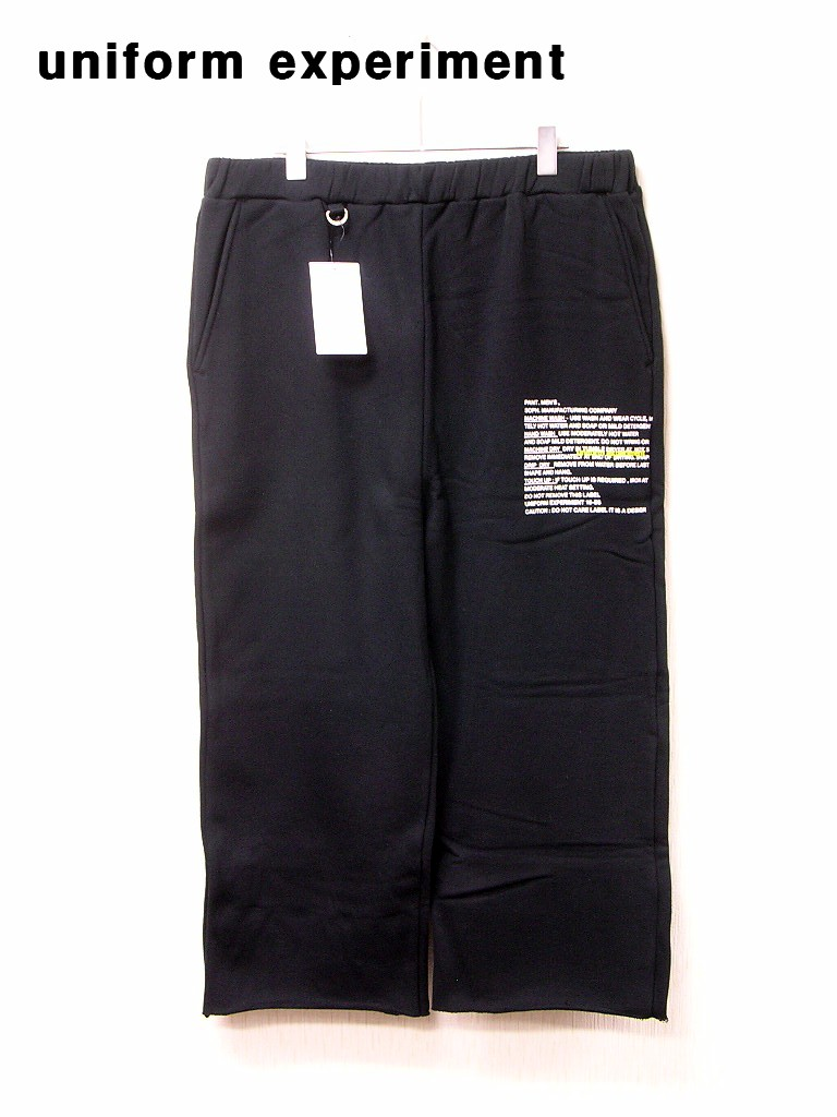 4 ¥23,760【uniform experiment THREE QUARTER CUT OFF SWEAT PANT UE-180057 ユニフォームエクスペリメント スウェットパンツ】