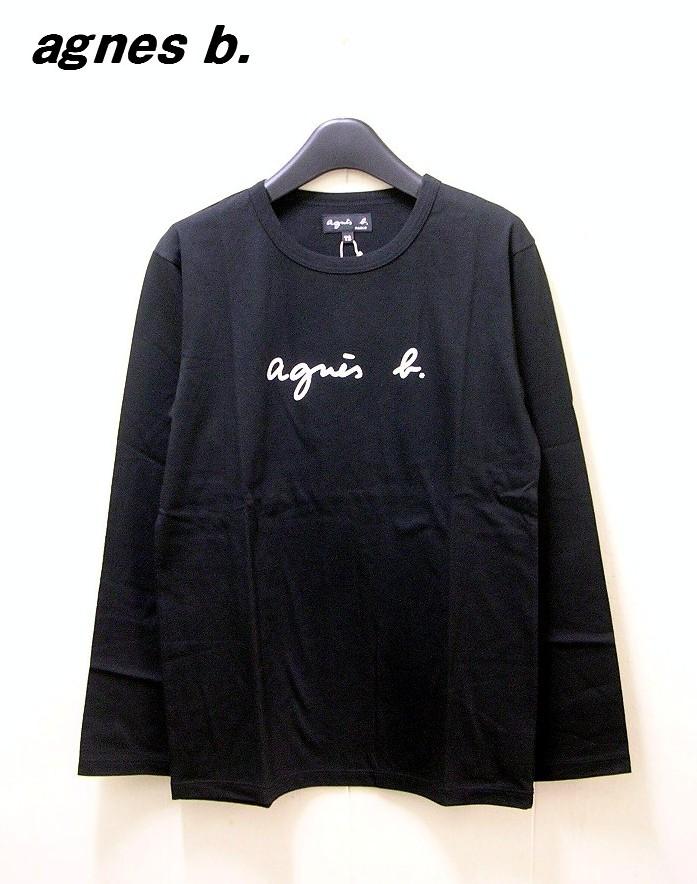 Lady's レディース 2 黒 Black【agnes b. FEMME LOGO L/S TEE アニエスベー ファム ロゴ カットソー ロンTシャツ】