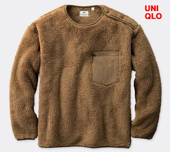 M Beige【UNIQLO x Engineered Garments フリースプルオーバー(長袖)ユニクロ x エンジニアドガーメンツ フリースプルオーバー ベージュ メンズ レディース ユニセックス 男女兼用 エンジニアードガーメンツ】