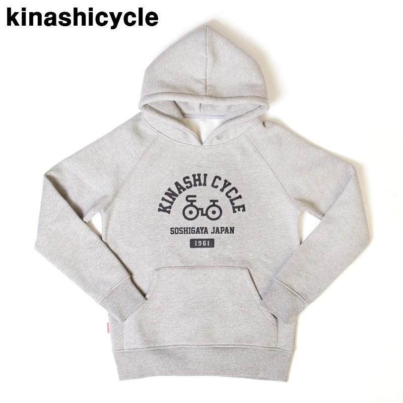 XL グレー【木梨サイクル 肉厚パーカー8 KINASHI CYCLE キナシサイクル 自転車ロゴ スウェットパーカー GRAY】