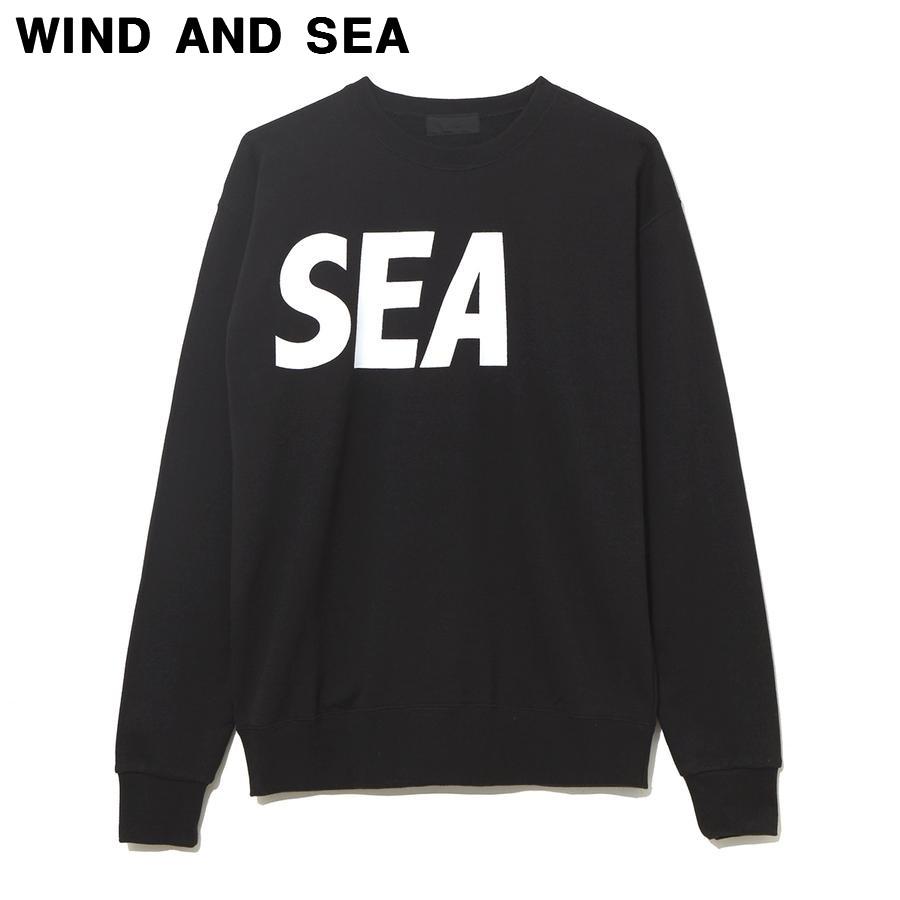 M BLACK【WIND AND CREWNECK SWEAT A ウィンダンシー クルーネック スウェット スエット トレーナー 黒 ブラック】