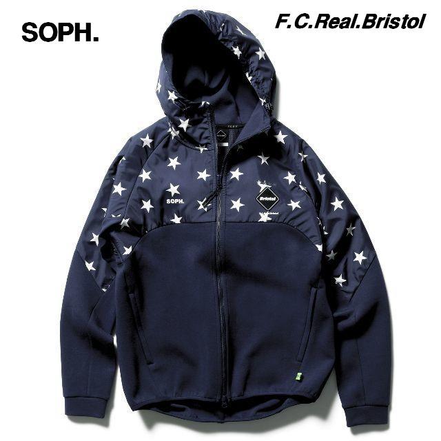 S NAVY【18AW SOPH. FCRB VENTILATION HOODY F.C.Real Bristol ソフ エフシーアールビー ベンチレーション フーディー スター パーカー】