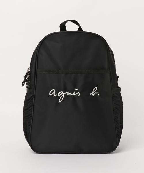 BLACK【agnes b.ENFANT GL11 E BAG 6864GL11 アニエスベー アンファン リュックサック バックパック バッグ KIDS キッズ】