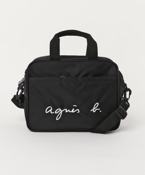 人気 BLACK【agnes b. ENFANT GL11 E BAG 6865-GL11 アニエスベー アンファン 2WAYバッグ バック KIDS キッズ】