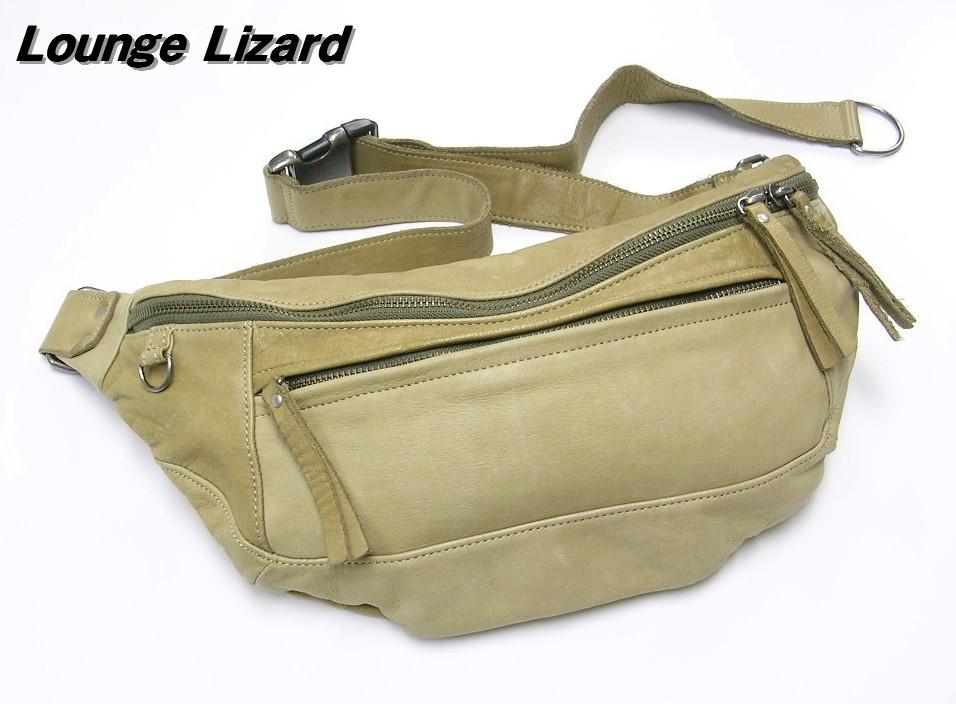 【Lounge Lizard [ラウンジリザード] ショルダーバッグ レザー】【中古】