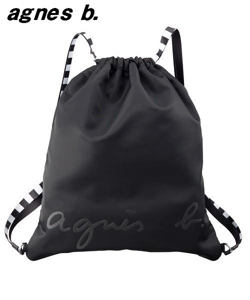 0577b9917b31 ... ブラック】 黒 バッグ バックパック. BLACK【agnes b. VOYAGE JS13-04 ナップサック アニエスベー ボヤージュ  リュックサック バックパック
