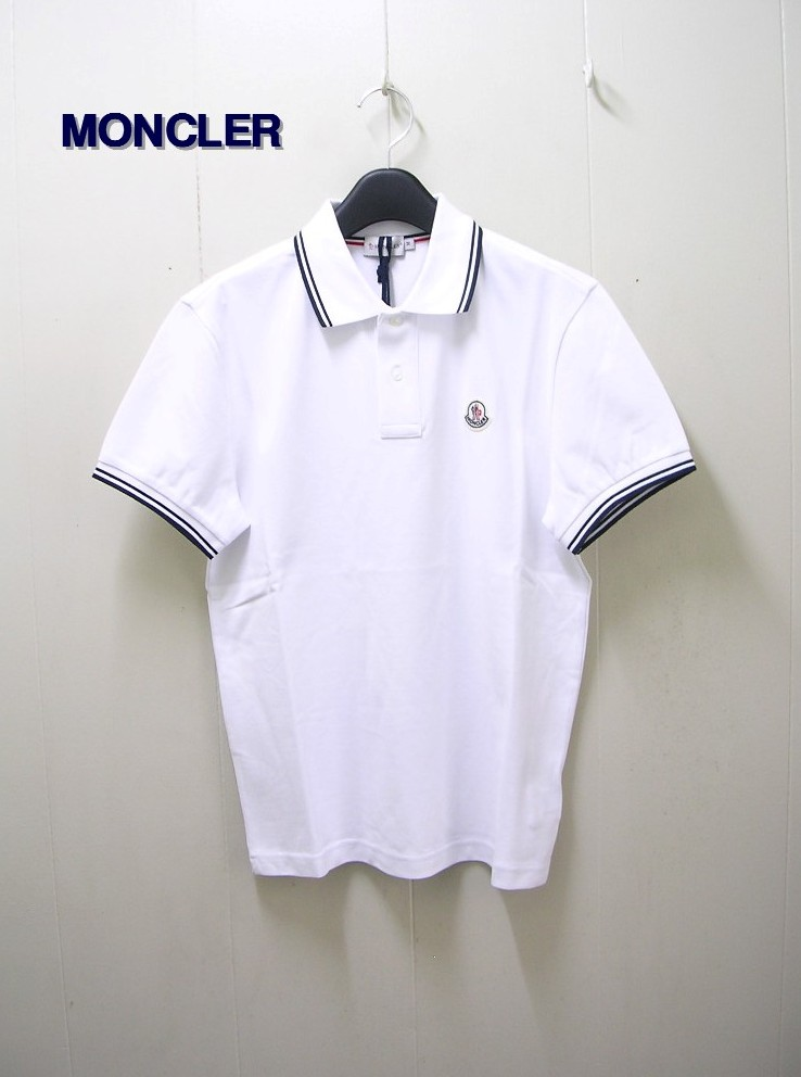 M 白 正規品【MONCLER [モンクレール] CLASSIC POLO ポロシャツ】091-83043-00-84093