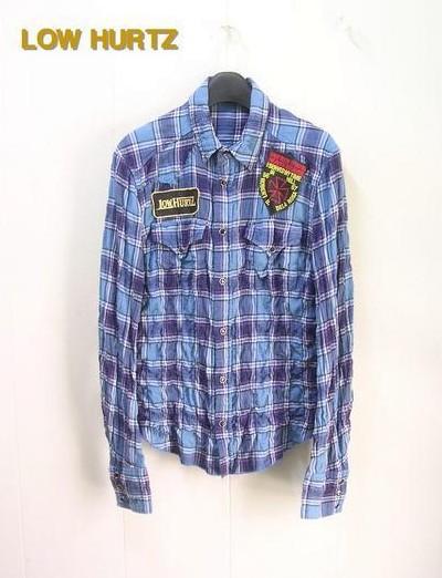 M 【LOW HURTZ [ロウハーツ] L/S チェックシャツ】Z07S73-1019-145