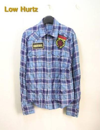 M 【LOW HURTZ ロウハーツ L/S チェックシャツ】【着用品】Z07S73-1019-145