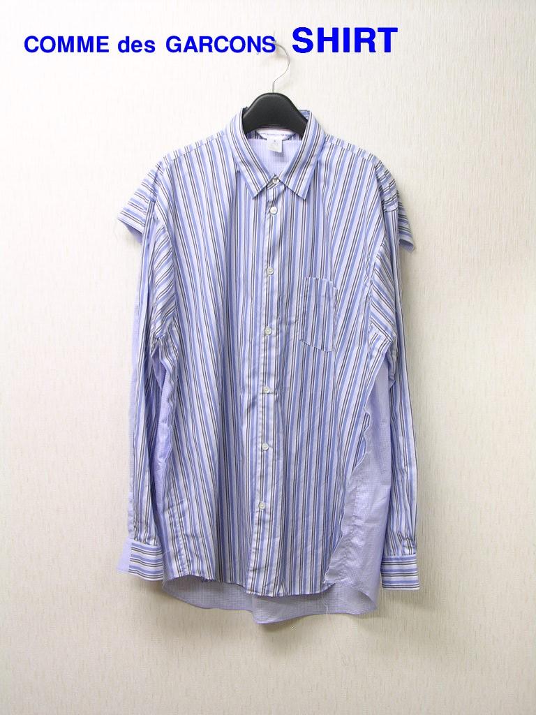 XL【COMME des GARCONS SHIRT Striped Shirt コム デ ギャルソン ストライプシャツ 長袖シャツ S26038】【中古】