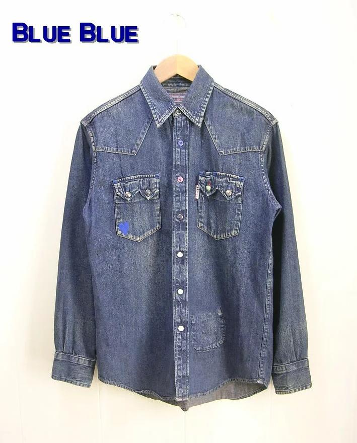 S(1)【Blue Blue クラッシックウエスタンデニムシャツ】【中古】