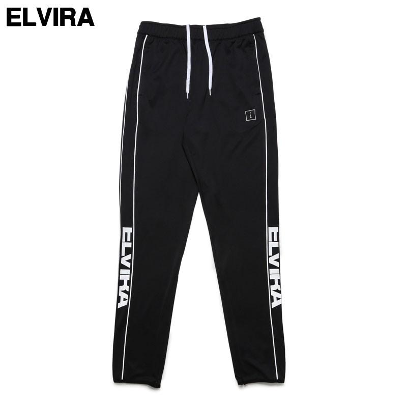 L BLACK/WHITE ¥16,200【ELVIRA BREAK JERSEY PANTS エルビラ エルヴィラ ジャージ パンツ トラックパンツ】