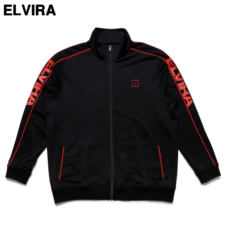 L BLACK/RED ¥18,360【ELVIRA BREAK JERSEY JACKET エルビラ エルヴィラ ジャージ ジャケット トラックジャケット】