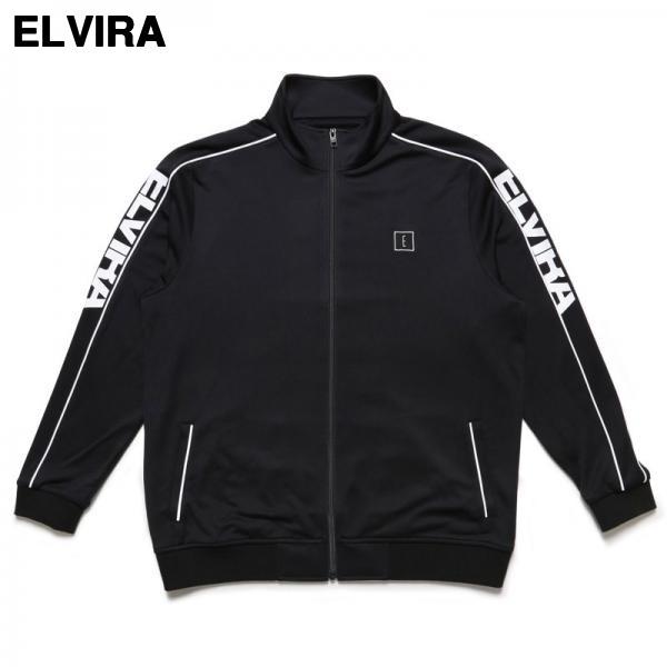 L BLACK/WHITE ¥18,360【ELVIRA BREAK JERSEY JACKET エルビラ エルヴィラ ジャージ ジャケット トラックジャケット】