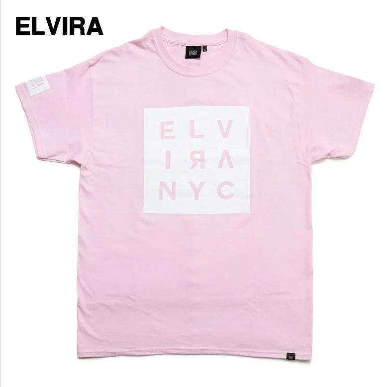 人気カラー M ピンク PINK【ELVIRA SQUARE NYC TEE エルヴィラ Tシャツ エルビラ】