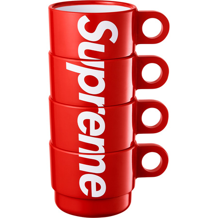 Red 18ss 【Supreme Stacking Cups (Set of 4) シュプリーム カップ セット コップ 赤 レッド】
