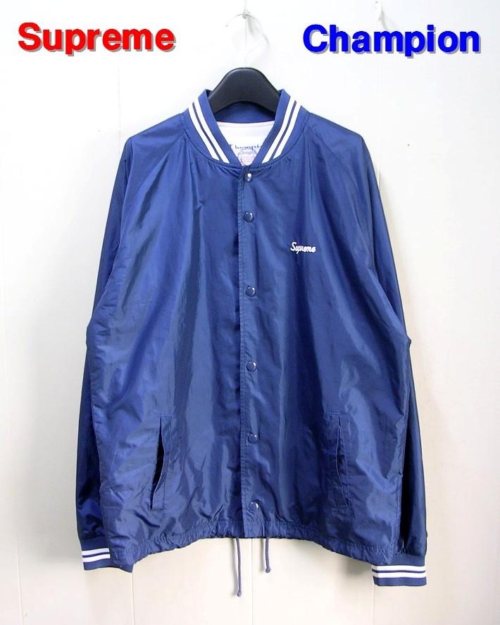 M Navy【Supreme [シュプリーム] x Champion [チャンピオン] Wram Up Jacket ジャケット】