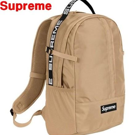 Tan 18ss 【Supreme Backpack シュプリーム バックパック リュック バッグ】タン ベージュ