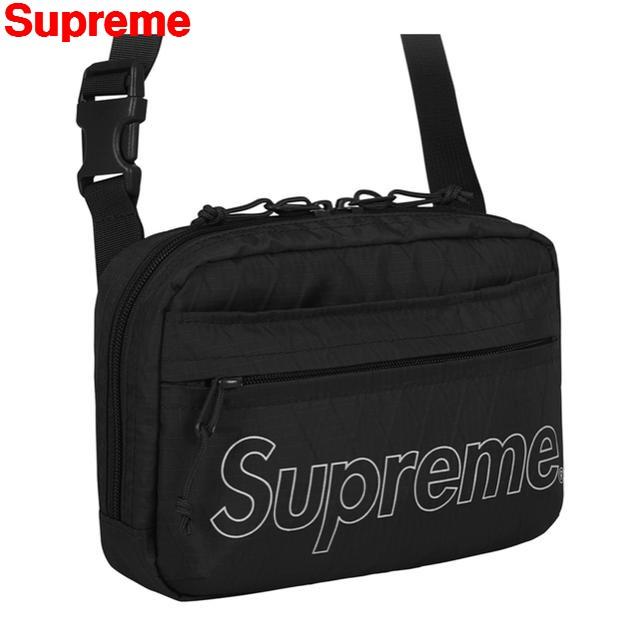 BLACK【Supreme シュプリーム 18AW Shoulder Bag ショルダーバッグ バック 黒 ブラック】