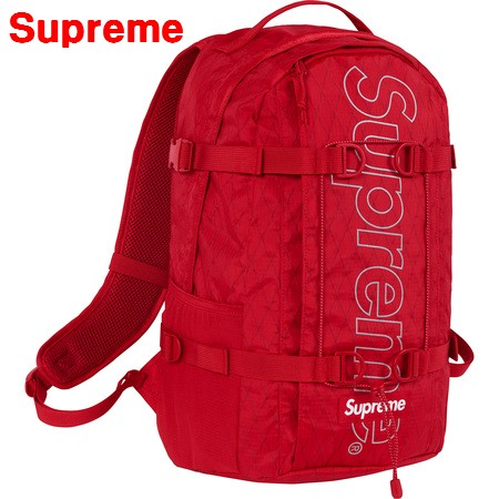 Red【Supreme シュプリーム 18AW Backpack バックパック 赤 レッド バッグ リュックサック】