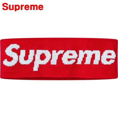 1番人気 Red【Supreme x New Era Big Logo Headband シュプリーム ニューエラ ビッグロゴ ヘッドバンド 赤 レッド 2018AW 国内正規品】
