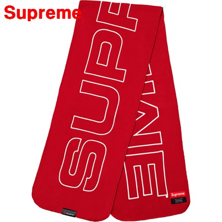 Red【2017FW 17AW Supreme Polartec Logo Scarf シュプリーム ポーラテック ロゴ スカーフ マフラー 赤 レッド】クリスマスプレゼントに