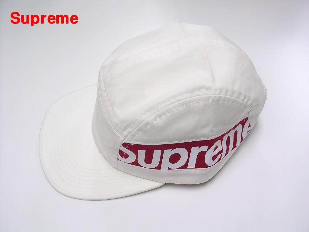 WHITE【Supreme シュプリーム 18AW Side Panel Camp Cap サイド パネル キャンプキャップ 白 ホワイト】