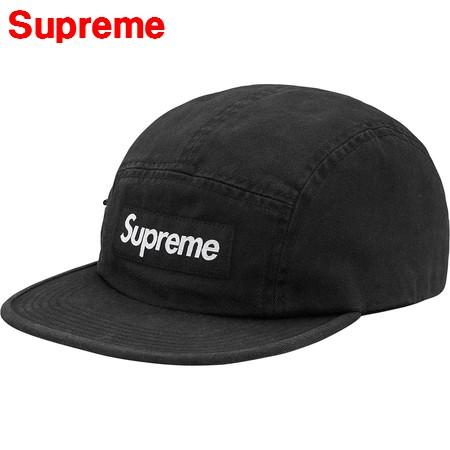 BLACK【Supreme 17AW Side Zip Camp Cap シュプリーム サイズ ジップ キャンプキャップ BOX LOGO ボックスロゴ】