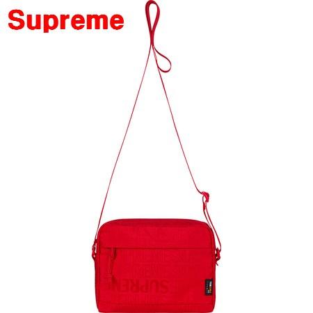 Red Supreme 19ss Shoulder Bag シュプリーム ショルダーバッグ バック BOX LOGO ボックスロゴ 赤 レッドWEHID92Y
