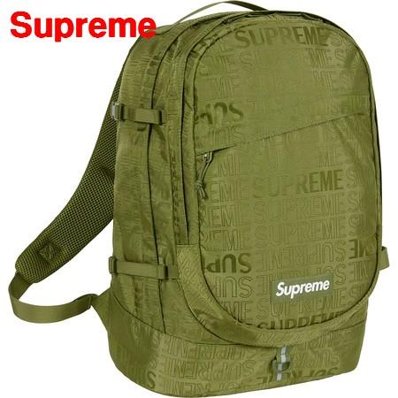 Olive【Supreme 19ss Backpack シュプリーム バックパック バッグ リュックサック BOX LOGO ボックスロゴ オリーブ】