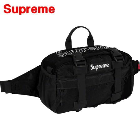 Black【Supreme 19FW Waist Bag シュプリーム ウエストバッグ 黒 ブラック 黒 BOX LOGO ボックスロゴ 2019FW 2019AW 新作】