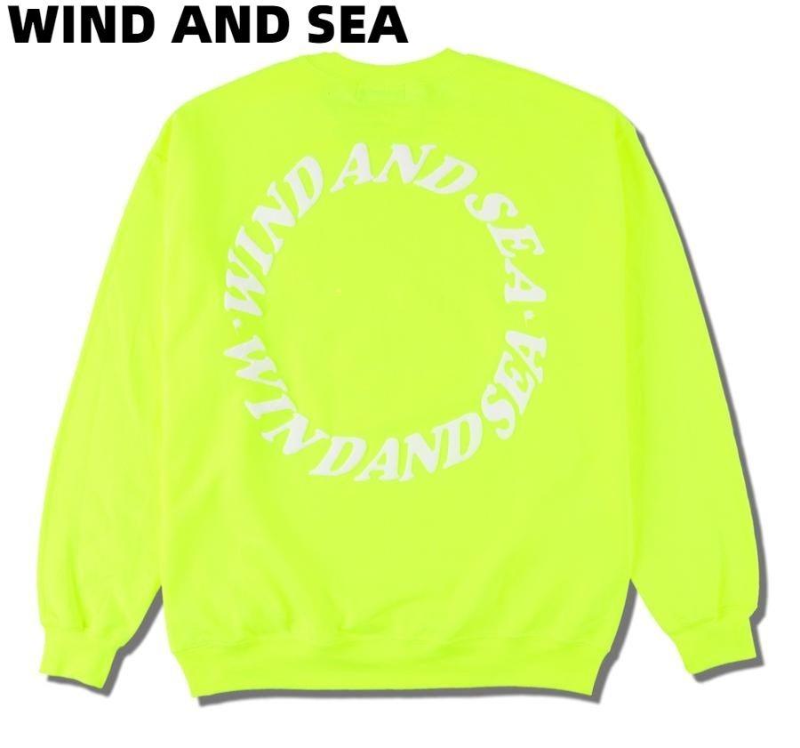 M【WIND AND SEA (circle) SWEAT WDS-CS-189 YELLOW ウインダンシー サークル スウェット 黄色 イエロー】