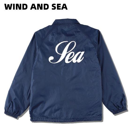 M NAVY【WIND AND SEA WDS (GLITTER) COACH JACKET WDS-20S-JK-03 ウインダンシー コーチジャケット ネイビー グリッター】