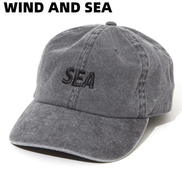 F【WIND AND SEA SEA P-DYE CAP WDS-20S-GD02 BLACK ウィンダンシー キャップ ブラック 黒 帽子 メンズ レディース ユニセックス 男女兼用