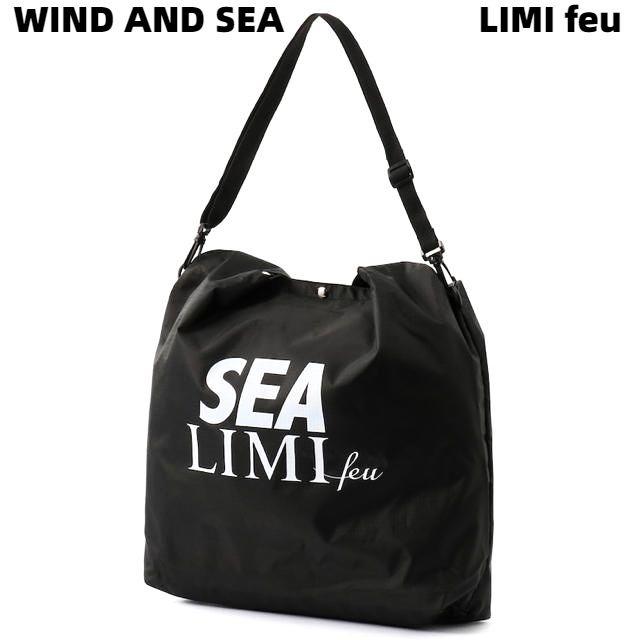 【YOHJI YAMAMOTO LIMI feu LIMI feu× WIND AND SEA Shoulder Bag / BLACK ヨウジ ヤマモト レミフゥ x ウィンダンシー ショルダーバッグ バック レディース】