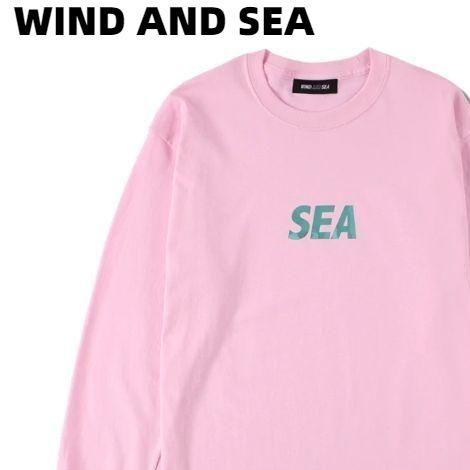 L【WIND AND SEA SEA(FOIL) L/S T-SHIRT / PINK (CS-208) ウィンダンシー ロンスリーブ Tシャツ ロンTシャツ ピンク ユニセックス メンズ レディース 男女兼用】