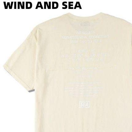 L【WIND AND SEA MAGIC STICK × WDS T-SHIRT / BEIGE (MGST-01) ウィンダンシー Tシャツ マジックスティック ベージュ ユニセックス メンズ レディース 男女兼用】