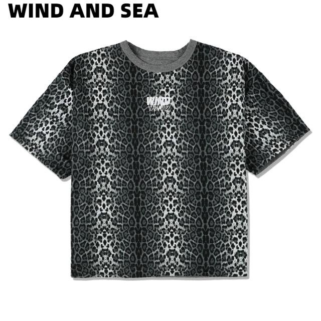 L【WIND AND SEA WDS LEOPARD RIVERSIBLE CUT-SEWN / GRAY (20S2-CS-10) WIND AND SEA Tシャツ レオパード リバーシブル カットソー グレー メンズ レディース ユニセックス 男女兼用 ヒョウ柄 豹柄 GREY】