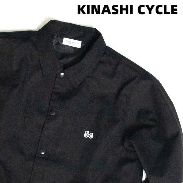XL 黒【KINASHI CYCLE 木梨サイクル コーチジャケット(ワッペン)BLACK ブラック 自転車ワッペン 木梨憲武】
