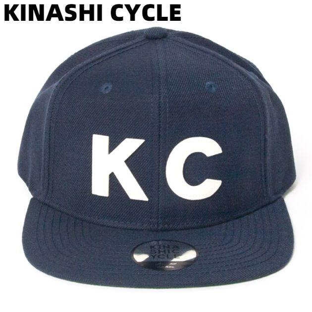 NAVY【KINASHI CYCLE スナップバックキャップ (KC) 木梨サイクル キャップ キナシサイクル 紺 ネイビー 木梨憲武】