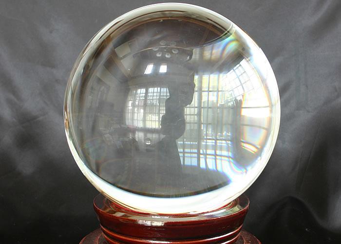 溶練水晶丸玉◇150mm