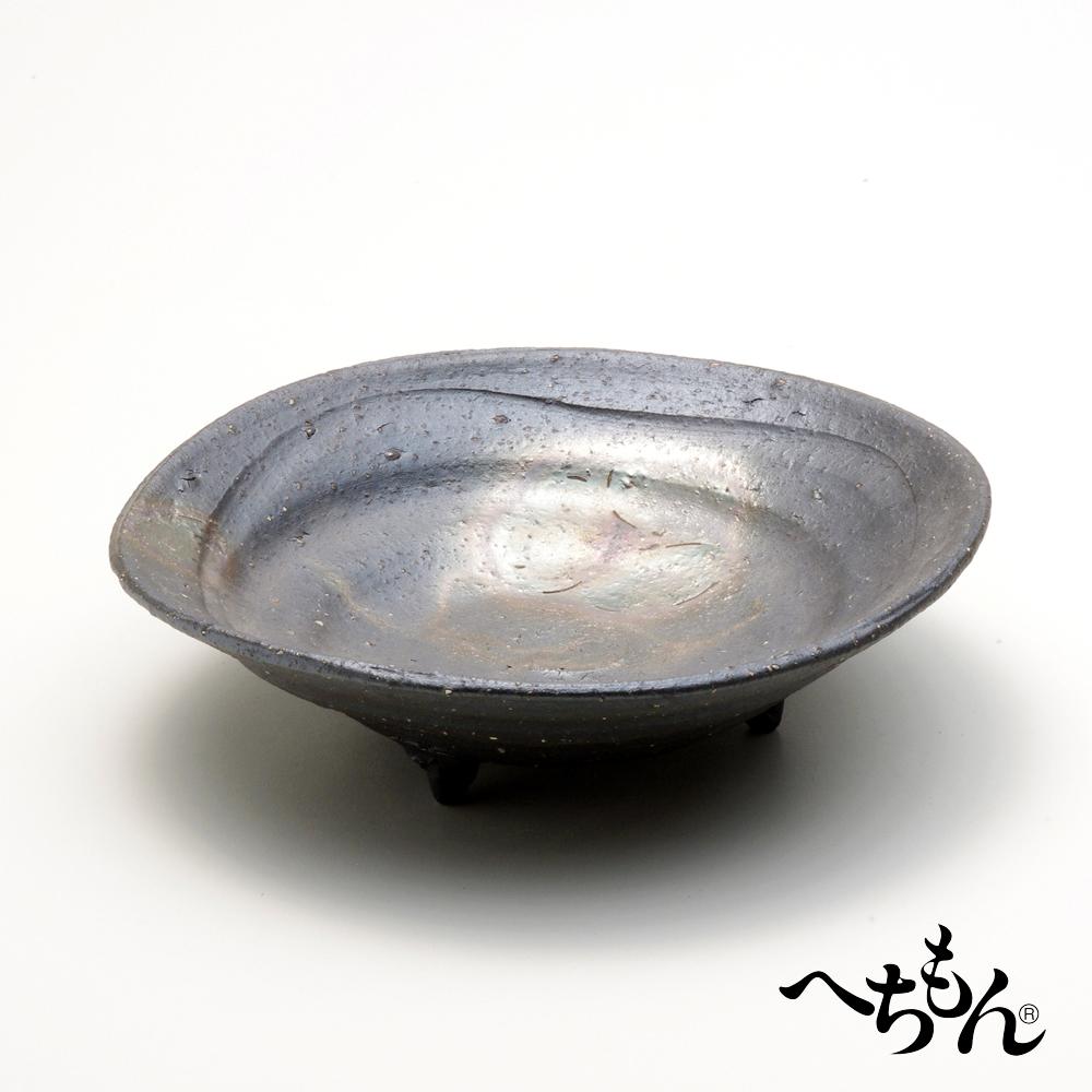 【送料無料】【信楽焼】へちもん 銀花 大鉢